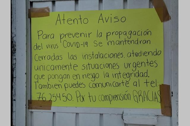 Por brote de Covid suspenden actividad en DIF de Huauchinango