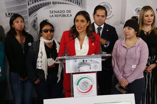 Diputados piden 20 años de cárcel para quien ataque con ácido a mujeres