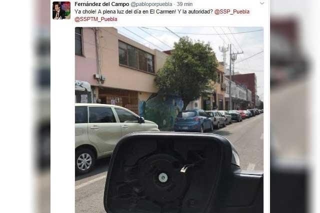 Diputado del PRI es víctima de la inseguridad en Puebla