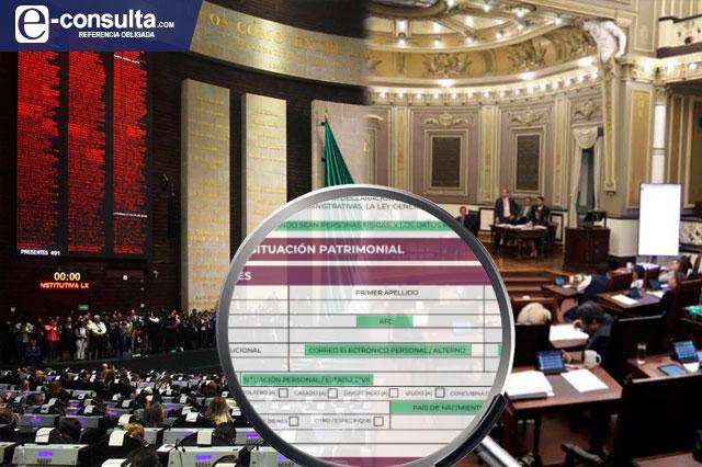 Diputados de Puebla cumplen 2 años sin transparentar sus bienes