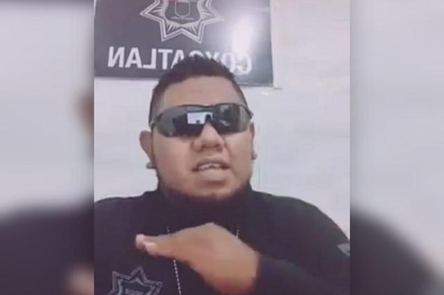 Dan de baja a director de seguridad en Coxcatlán por vídeo de Tik-Tok