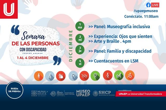 Museo UPAEP organiza la Semana de la Discapacidad