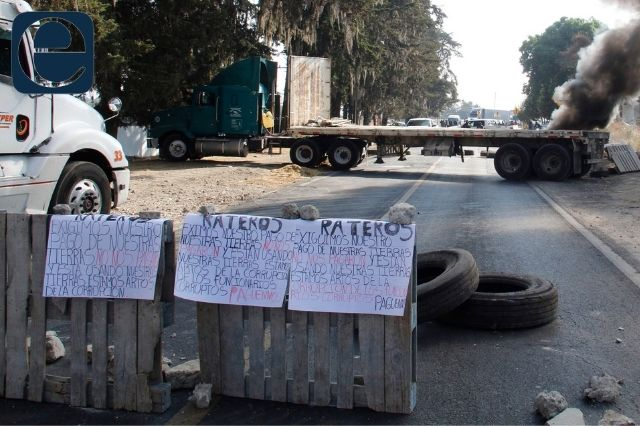 Ejidatarios liberaron la circulación en autopista México - Puebla