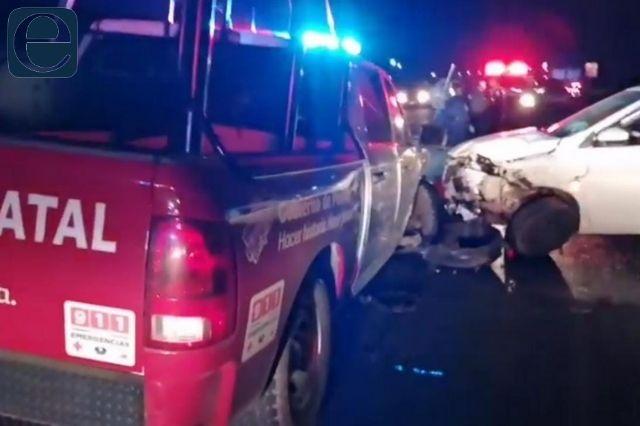 Conductor de vehículo particular choca contra patrulla en Teotipilco