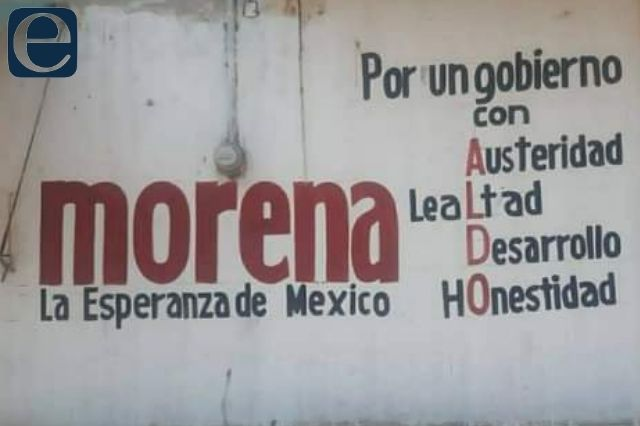 Acusan a candidato de Ajalpan Aldo Hernández por campaña anticipada