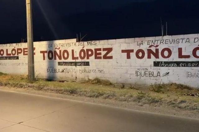 Denuncian a Toño López por pintar 26 bardas pese a veda electoral
