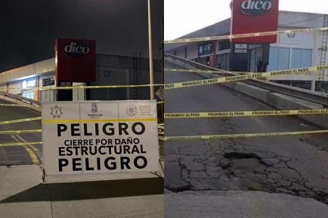 Por daño estructural cierran puente que hizo Toño Vázquez en Teziutlán