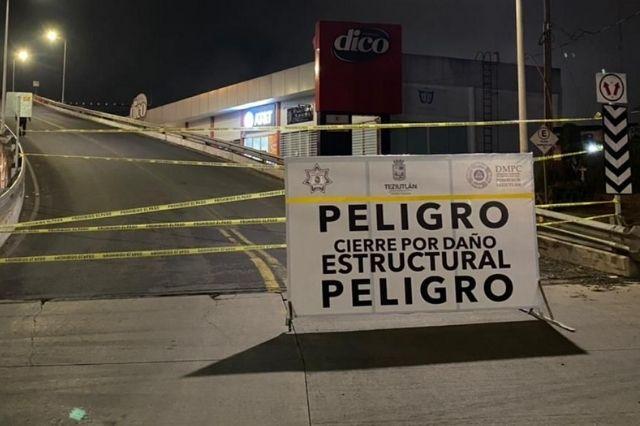 Por riesgo de colapso cierran puente morenovallista en Teziutlán