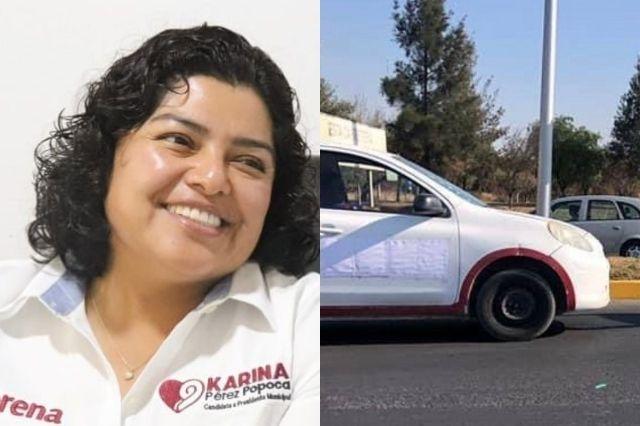 Usando vehículos oficiales Popoca busca el voto en San Andrés
