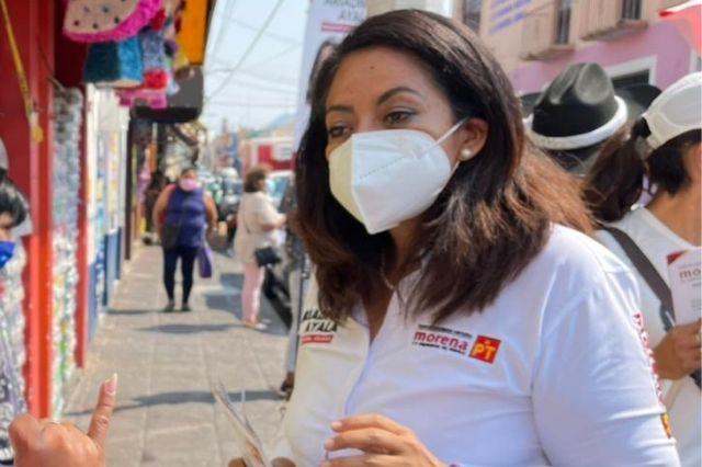 Bajan a Ariadna Ayala de la candidatura a la alcaldía de Atlixco