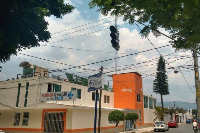 Roban 140 metros de cable de semáforos en Tehuacán