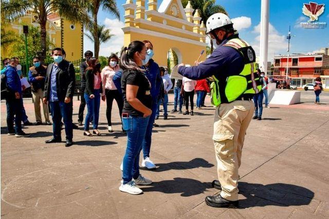 Comuna de Cuautlancingo se suma al Simulacro Nacional 2021