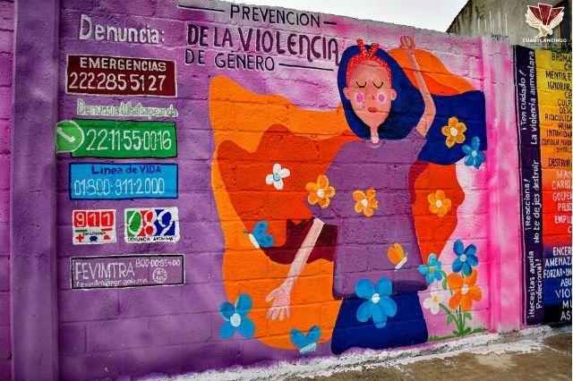 Entrega Lupita Daniel 6 murales para prevenir delitos