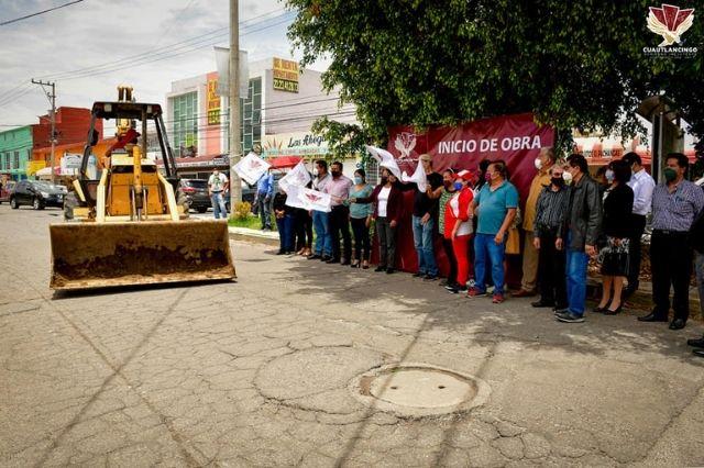 Arranca Lupita Daniel más obras de pavimentación en el municipio