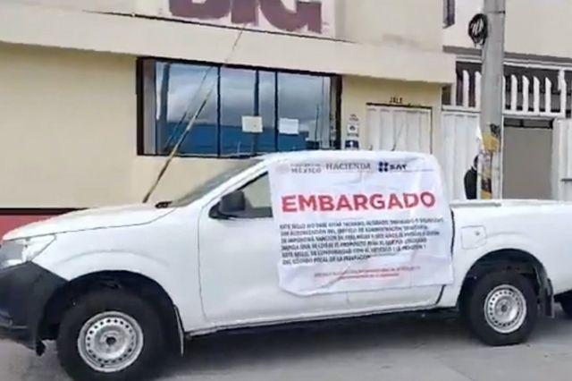 SAT embarga Big Cola de Huejotzingo