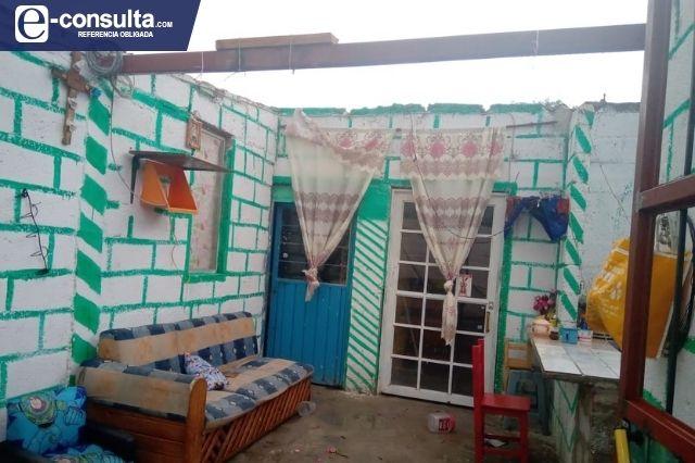 Torbellino afecta 30 viviendas en San Sebastián, Tecamachalco
