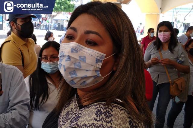 Genoveva Huerta descarta problemas para el PAN por edil prófugo de Ajalpan