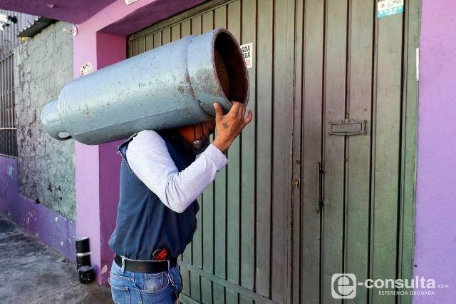 Sube 100 pesos precio del tanque de gas LP en Atlixco