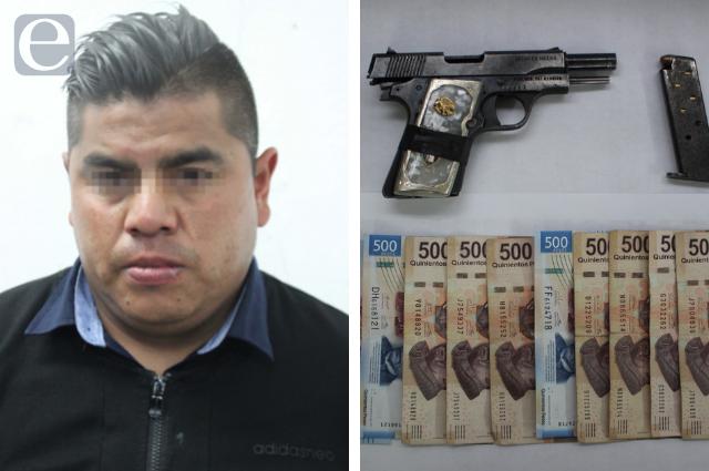 Detienen a asaltante de cuentahabientes en Puebla