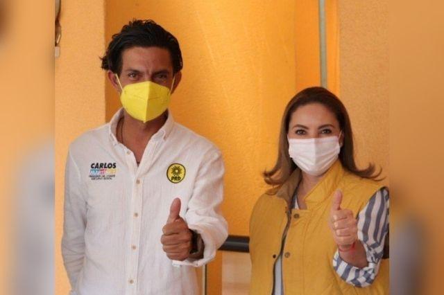 Paola Angon va en alianza con PRD por alcaldía de San Pedro Cholula