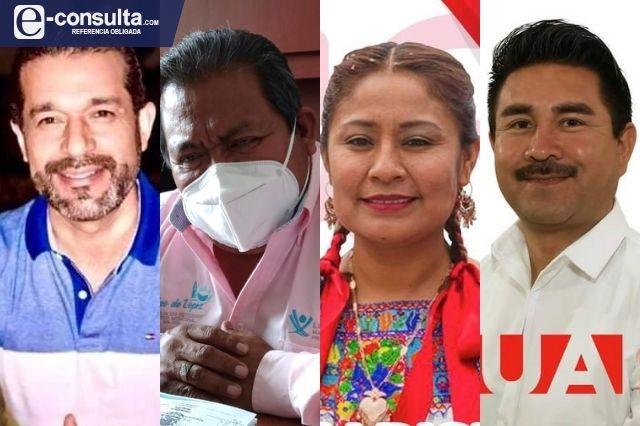 Cuatro ediles de la región de Tehuacán buscan su reelección