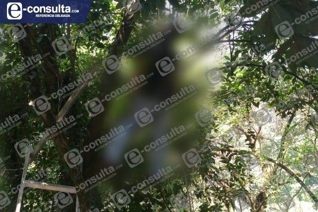 Hombre se quita la vida colgándose de un árbol en Huauchinango