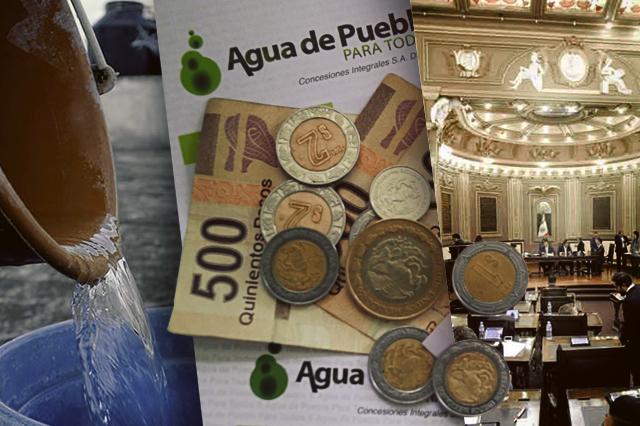 Recupera el Congreso facultad para fijar tarifas de agua en Puebla