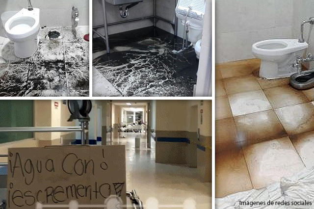 Otra vez aguas negras inundan el Hospital General del Sur