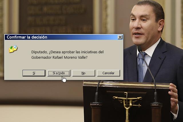 Diputados dicen sí a 9 de cada 10 iniciativas de Moreno Valle
