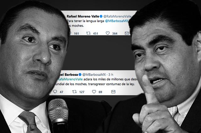 Ahora Moreno Valle y Barbosa se acusan por cobro de moches