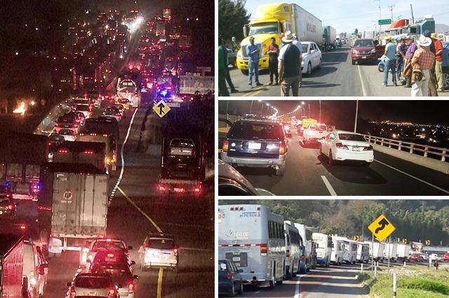 Cierran en Puebla autopistas y caminos federales por gasolinazo