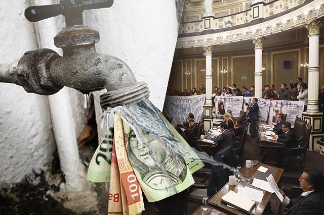 Validan que Congreso apruebe las tarifas del agua en Puebla