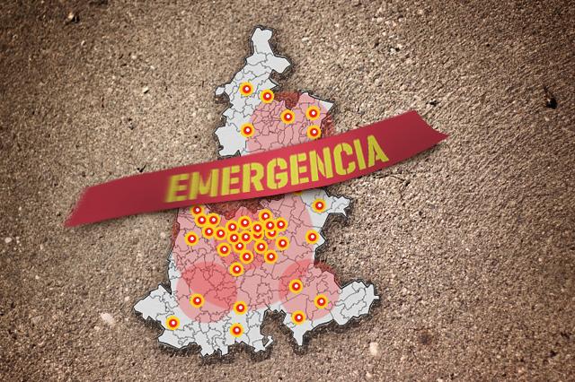 En 5 semanas 175 municipios han resultado afectados