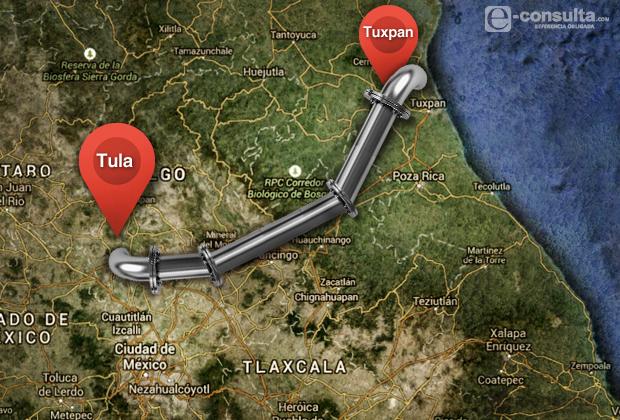Canadiense construirá el gasoducto Tuxpan-Puebla-Tula