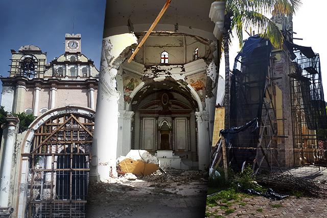 Hirvió la tierra al caer templo en Atzala, recuerda sobreviviente