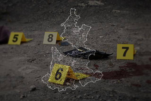 Crecen asesinatos en la mitad de los municipios de Puebla