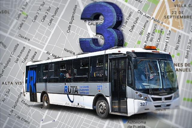 Constructora de la ciclovía de Atlixcáyotl hará línea 3 del Metrobús