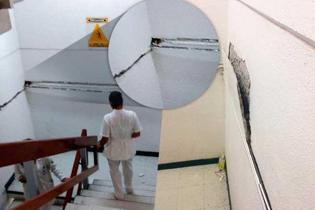 Temen por estado de paredes y techos de hospital San Alejandro