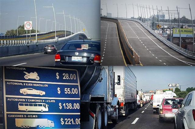 Abre a medias el Segundo Piso de la autopista en primer día de operación