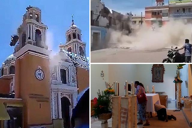 Sorprende sismo en la pirámide, templos y hasta el panteón