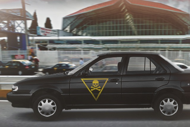 La detención de un taxi pirata por día se registró durante 2017