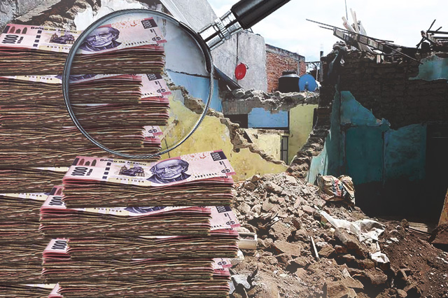 Ya suma 6 mil 631 mdp costo del sismo del 19S en Puebla