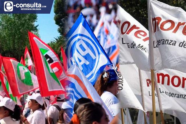 Cae militancia de PRI y PRD, pero se inflan PT y PVEM en Puebla