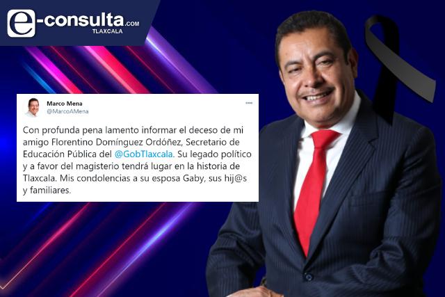 Muere titular de Educación en Tlaxcala, Florentino Domínguez