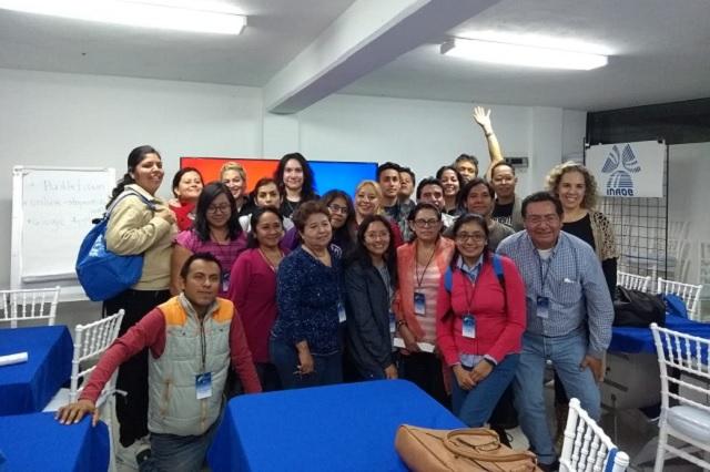 Docentes participan en el Taller de Ciencia para Profes en INAOE