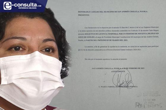 Karina Pérez se contradice y pide licencia para participar en las elecciones 2021