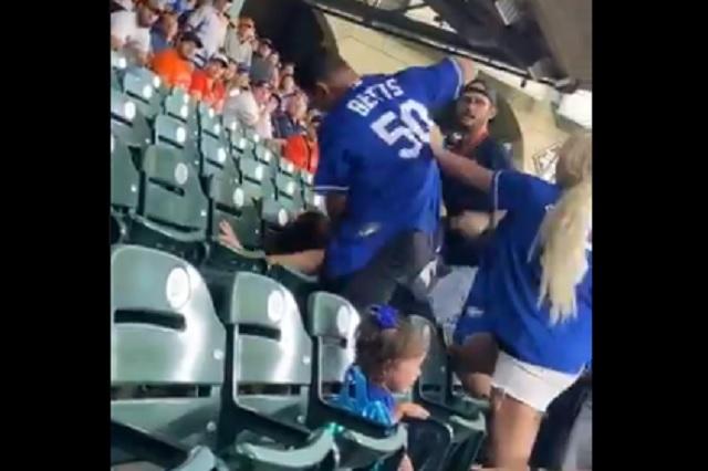 Rivalidad entre Dodgers y Astros llega a las gradas del Minute Maid Park