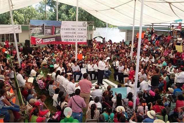 Doger encabeza mitin en Quecholac pero no habla de política