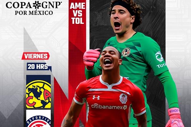 Canales y horarios para ver América vs Toluca en Copa GNP