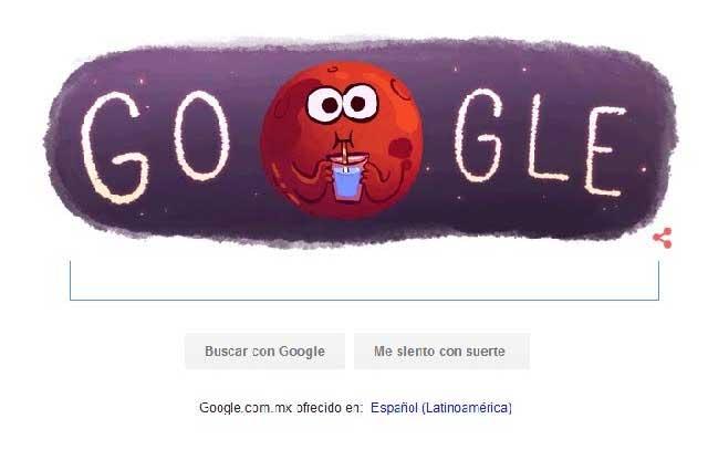Google dedica un Doodle para festejar hallazgo de agua en Marte